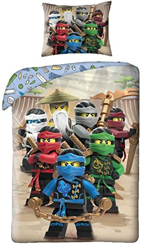 character Lego Ninjago Duvet Cover + Pillow Cover 140x200cm Single bed Cotton (Exclusive)