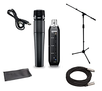 Shure SM57 USB Microphone Bundle with X2U XLR-to-USB: Amazon co uk