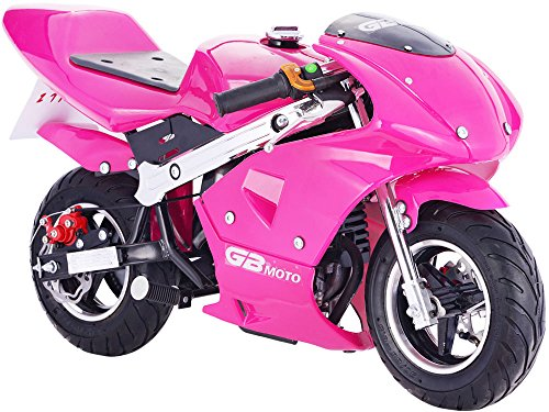 Mototec Gbmoto Gas Pocket Bike 40Cc 4 Stroke  Non Califonia Compliant  Pink