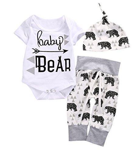 Word Girl Costume Pattern (Baby Boys Girls Top Romper Pant Hat Outfits Sleepwear Nightwear Pyjamas Costume (6-12M, Gray+White))