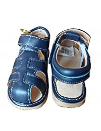 WAZZIT Unisex Baby Girls' Boys Soft Sole Anti-Slip Leather Summer Breathable Prewalker Sandals