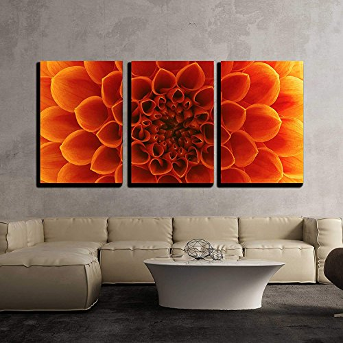 Abstract Flower Petals Wall Decor x3 Panels