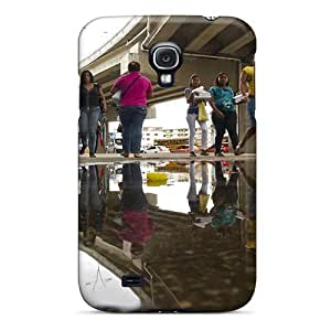 MMZ DIY PHONE CASECute Appearance Cover/tpu BlRIIgQ5850nMMGW Dejctr 1016 City Night Image Refraction Case For Galaxy S4