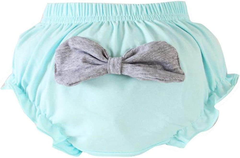 URMAGIC Baby Girl Cotton Frilly Knickers Toddler Kids Bowknot Underwear Pants for 0-4 Years