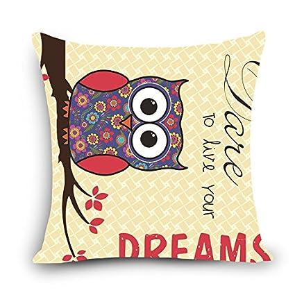 MAYUAN520 Cojines Cartoon Owl Impreso Silla De Comedor Funda ...