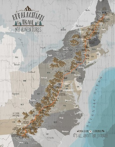 Amazon.com: Appalachian Trail Map, Hiking Map of Appalachian Trail on