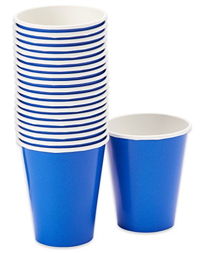 American Greetings Paper Cups (20 Count), 9 oz, Royal Blue