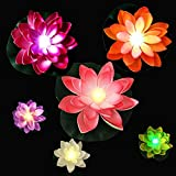 LED Floating Lotus Light Waterproof,6PCS