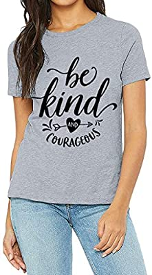 Women Summer Comfort Short Sleeve Letter Printed Tees Plus Size T Shirts Blouse Tops