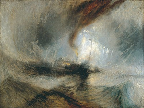 Joseph Mallord William Turner - Snow Storm Steam Boat Off a Harbour's Mouth, Size 24x32 inch, Gallery Wrapped Canvas Art Print Wall décor (Snow Storm Steam Boat Off A Harbours Mouth)