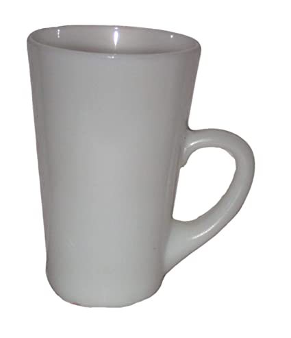 489a48efa65 Amazon.com | Vintage White Milk Glass Tall 5 x 3 1/4 Inch Coffee Tea ...