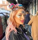 COKOHAPP Glitter Gem Stone Face Temporary Tattoo