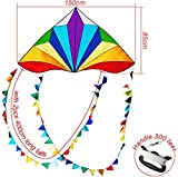HONBO Large Delta Kite for Kids & Adults,Extremely