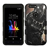 ZTE Blade Z Max Case, ZTE Blade Zmax Pro 2 Case, ZTE Sequoia, Hard+Rubber Dual Layer Hybrid Heavy-Duty Rugged Armor Cover Case - Black Panther #A