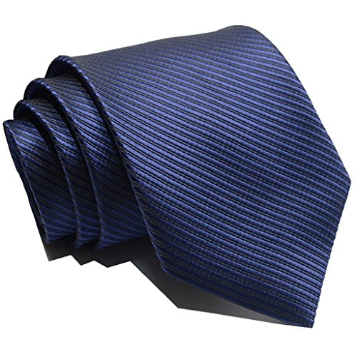 GRSHOW Men's Business Formal Occasions Wedding Necktie + Gift Box(navyblue,color)