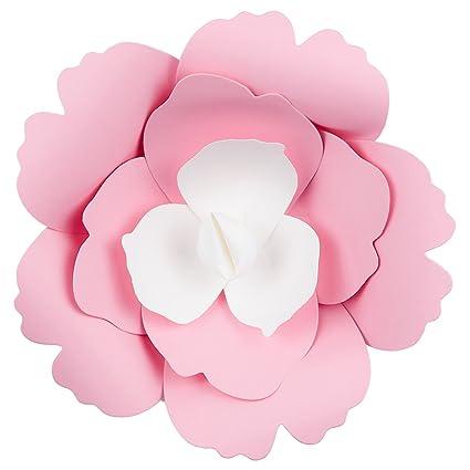 Amazon quasimoon paperlanternstore 8 pre made pink rose quasimoon paperlanternstore 8quot pre made pink rose paper flower wedding backdrop wall mightylinksfo