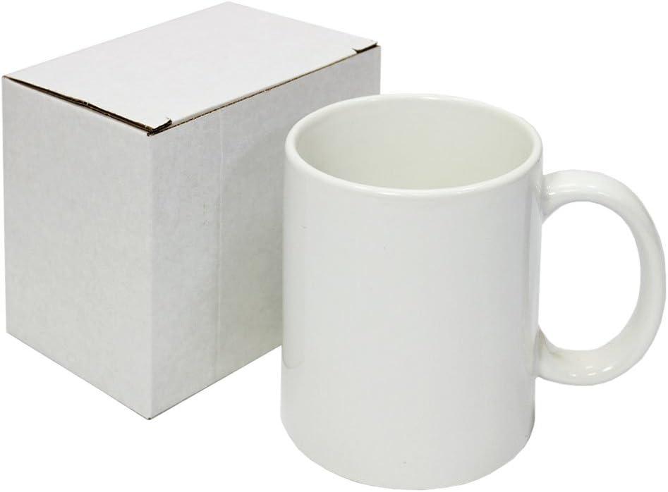 PixMax - 36 Tazas 325ml Recubiertas de Polímero Blanco para Sublimación con Cajas: Amazon.es: Productos para mascotas