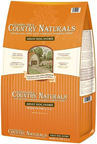 Grandma Maes Country Naturals Adult Dry Dog Food Formula For Sensitive Stomachs, 28 Pound Bag