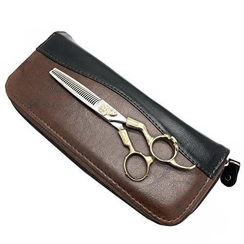 o Hair Cutting Scissors Set Japan Hair Scissors Teflon Shears Hairdressing Scissors Barber Thinning Scissors Hairdresser Razor Haircut Right hand use (thinning with bag) ()