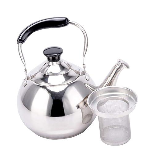 Crystallly Tetera Cafetera Hervidor De Agua con Colador De Té 1 ...