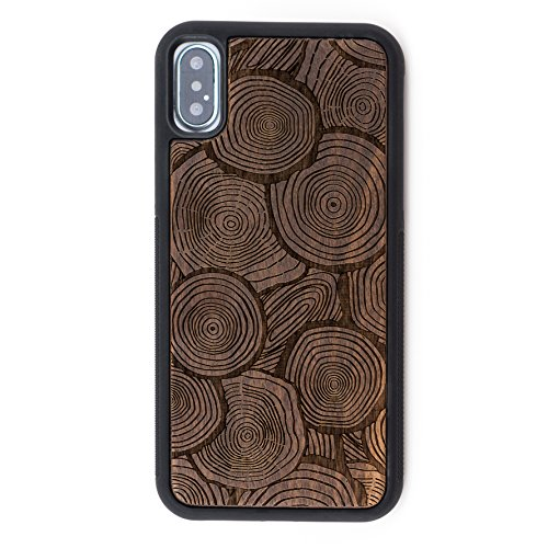 Cheap Cases iPhone X Case - Extra Protective Real Wood iPhone X Case with..