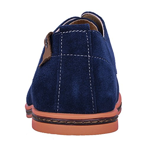 Adulto Stringate Scarpe Uomo In Whifan Camoscio Casual Navy Basse Oxford Pelle Derby W6OcWqp