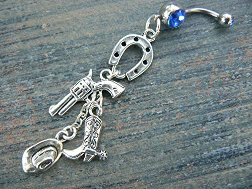 Country western Girl Western Cowgirl Belly Button Ring (Belly Button Rings Western)