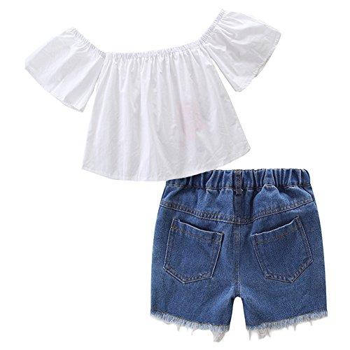 a50e2f47d Jual KIDSA 1-7T Baby Toddler Little Girls Summer Outfits Sets Off ...