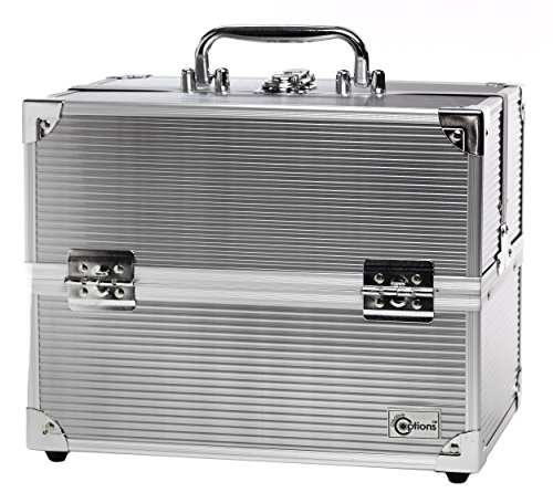 Creative Options Crafters Train Case, Silver (Case Caboodles Makeup)