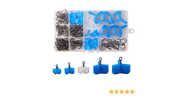 10//50Pcs Durable Fishing Treble Hooks Jig Covers Case Bonnets Caps*Protector NJB