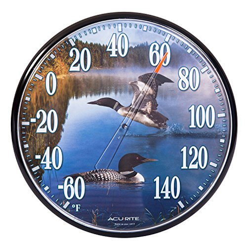 AcuRite 01726A1 Loons 12.5-inch Indoor/Outdoor Thermometer