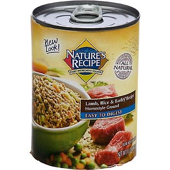 Nature's Recipe Easy to Digest Lamb, Rice and Barley Formula Canned Dog Food (12 pack)