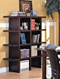 Wood Grain Finish Stackable Bookcase Full Unit (4 For Sale