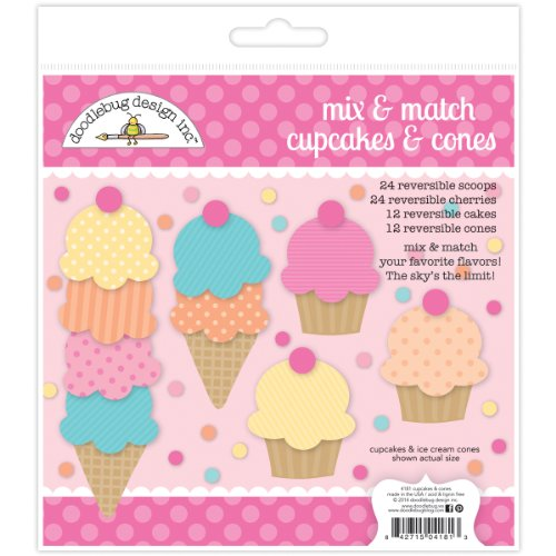 Doodlebug Design Cupcake (Doodlebug Sugar Shoppe Paper Craft Kit, Cupcake and Cones)