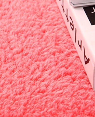 Lindou Alfombra de ba/ño Antideslizante Minimalismo Terciopelo de Terciopelo de algod/ón Empalme alfombras Alfombra alfombras de ba/ño-Rosa para casa