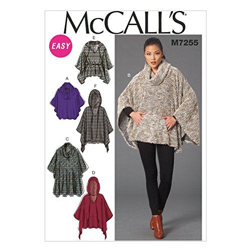 McCall's Patterns M7255 Misses' Ponchos & Belt, ZZ (Large-X-Large-XX-Large) ()