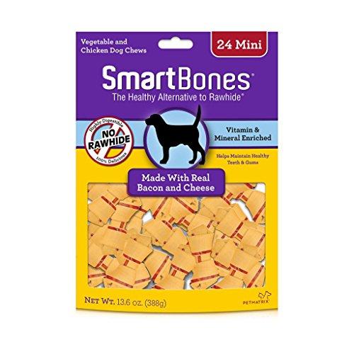 (Smartbones Rawhide-Free Dog Bones, Mini, Bacon & Cheese Flavor)