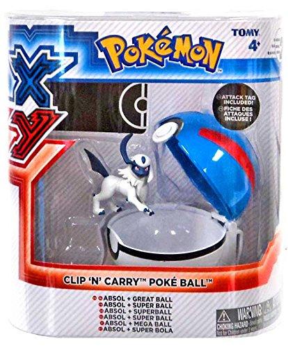 Pokemon X & Y Clip n Carry Pokeball Absol & Great Ball Figure Set B00SNEGRFC