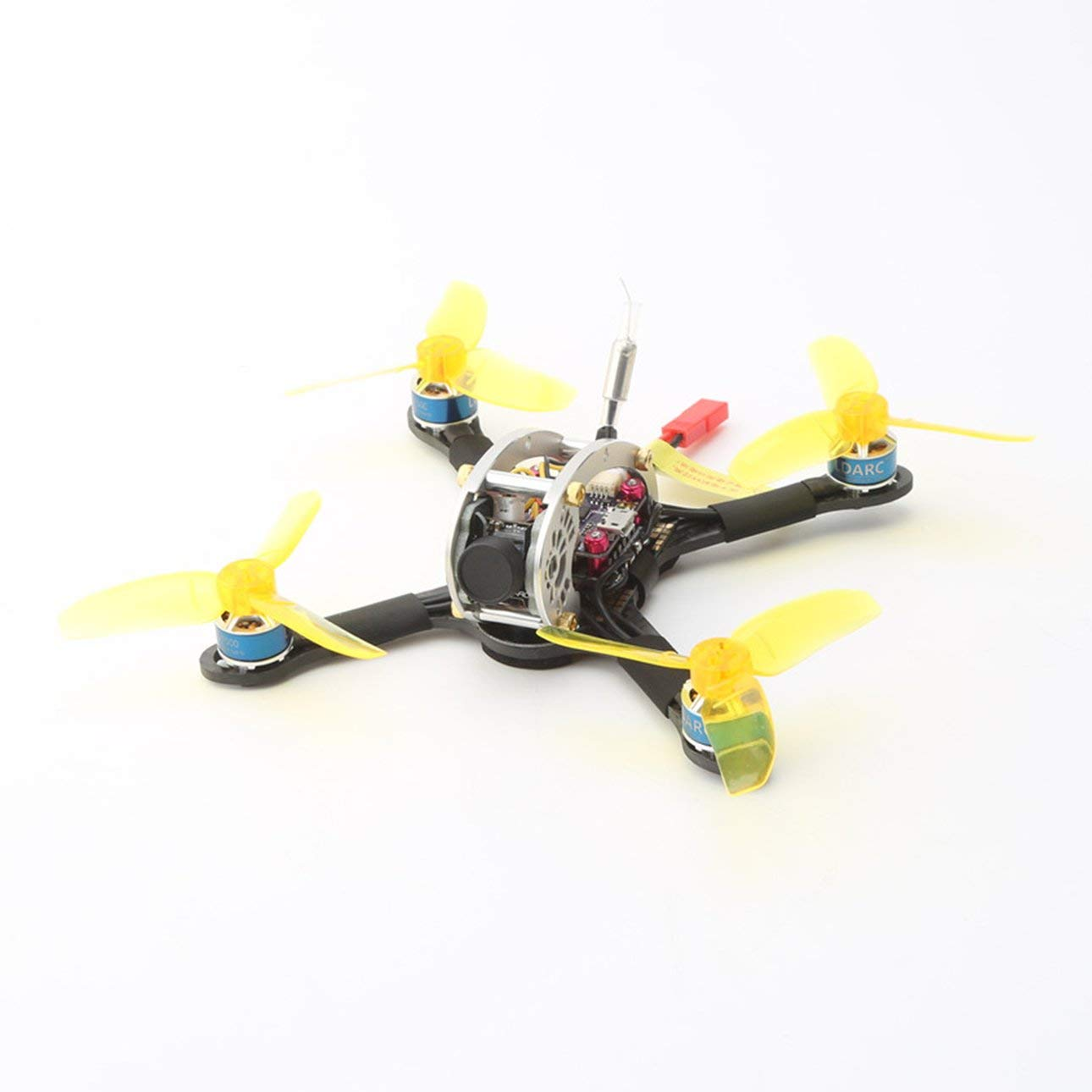 Ballylelly Drone con Fotocamera LDARC Flyegg 5.8G Telecamera OSD Senza spazzole AC900 RX Mini FPV RC Racing Drone PNP