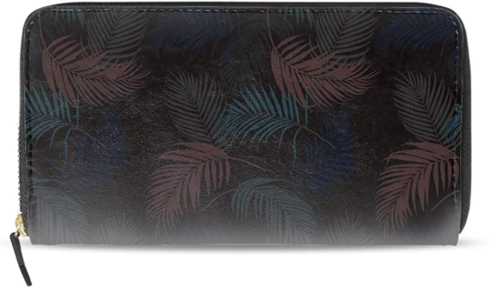 Womens Mens Large Capacity Long Wallet Card Holder Fashion Eat Sleep Fish American Flag Clutch Handbag