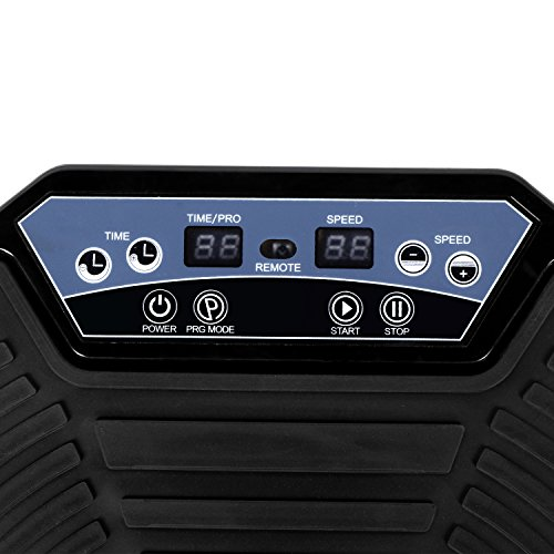 Fitness Vibration Platform Massage Machine, Whole Body Shaper Vibration Plate Machine with Two Bands & Remote, Fit Massage Workout Trainer (US STOCK)