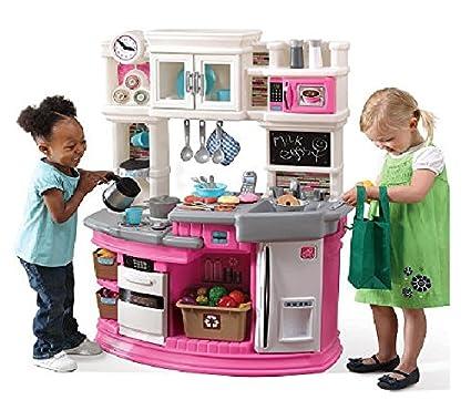 amazon com step2 lil chef s gourmet kitchen pink toys games rh uedata amazon com step 2 play kitchen pink step 2 gourmet kitchen pink