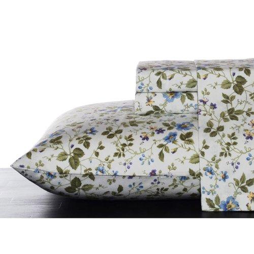 Laura Ashley Flannel Queen Sheet Set Spring Bloom Buy Online In Dominica At Desertcart