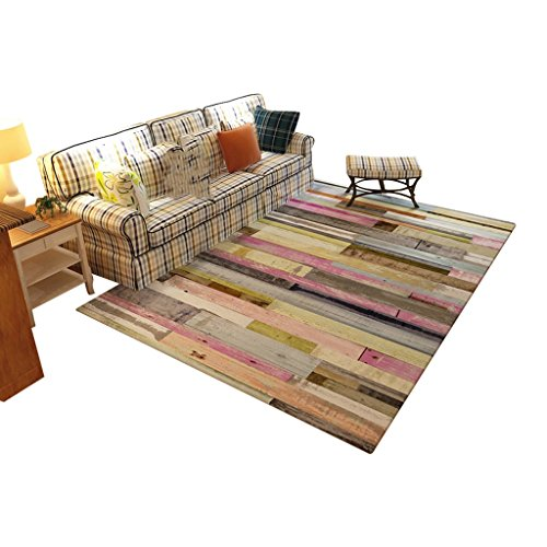 (European Style Flannel Rectangular Abstract Stripe Printed Pattern Living Room Bedroom Rug, Non-slip Anti-pollution Study Rug, Non-shedding Non-fading Washable Sofa Bedside Mat (Size : 140200cm))