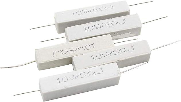 3 Pieces Ceramic Cement Power Resistor 5W 5.6 Ohm 5 Watt