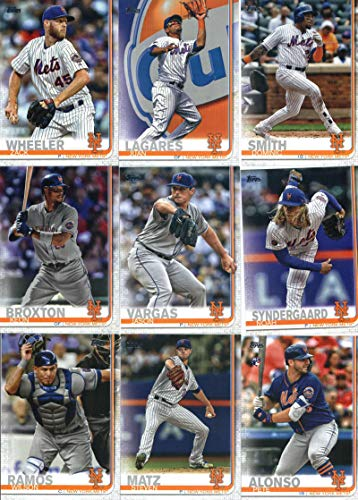New York Mets 2019 Topps Complete Mint 23 Card Team Hand Collated Set with Pete Alonso and Jeff McNeil Rookie Cards Plus