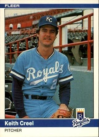 Amazoncom 1984 Fleer Baseball Card 346 Keith Creel Near