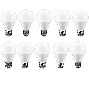 E27 Bombilla LED blanco cálido bombilla equivalente a 40 W A60 Bombilla, 5 W, ...