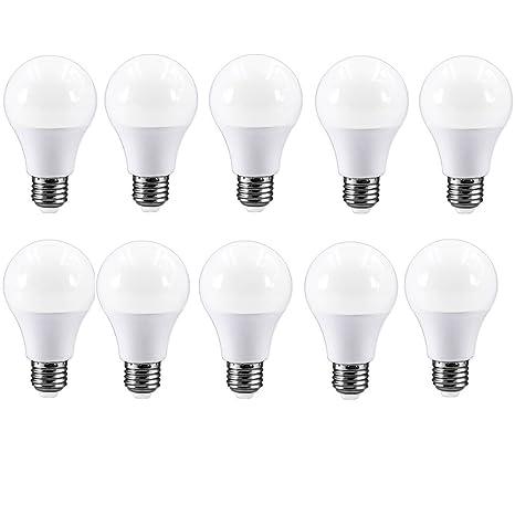 E27 Bombilla LED blanco cálido bombilla equivalente a 40 W A60 Bombilla, 5 W,