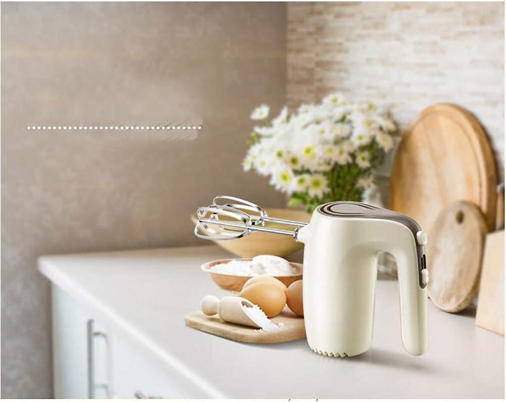 Beater Mini casa Uovo elettrico, mixer impostazioni 5 marce leggero palmari miscelatori mano elettrici for la cucina-Beige ZNDGG (Color : Beige) Beige